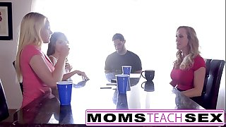 MomsTeachSex - Hot Mother & Teen Friends Hump Fuck With Neighbor
