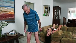 BLUE PILL Guys - We Get Old Guy Johnny An Escort (Aria Rose) To Fulfill His Depraved Wishes