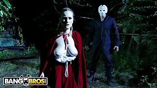 BANGBROS - Ch-ch-check Out This Sensational Halloween Vignette Featuring Kara Lee and J-Mac