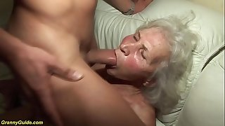 german granny in her first porno flick