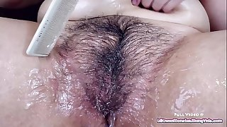 Custom Flick - Covering my HAIRY MOUND in lube and combing it in.